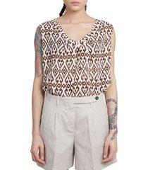 massimo alba brown vega blouse