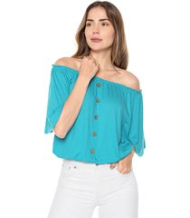 blusa aguamarina mítica