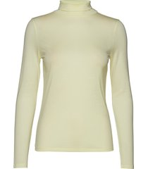 tencel polo neck top t-shirts & tops long-sleeved groen filippa k