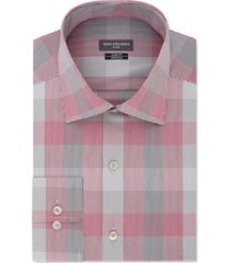van heusen men's slim-fit plaid dress shirt