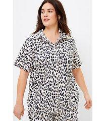loft loft plus leopard print pajama top