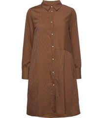 cunathleen shirt dress korte jurk bruin culture