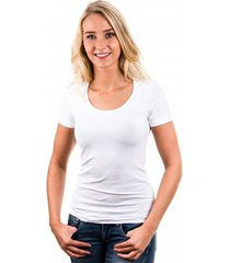 garage women t-shirt round neck white ( art 0701)