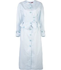 sies marjan striped structured dress - blue