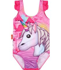 vestido de baño enterizo rosa emoji en tejido de punto emol02