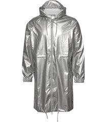 long w jacket regenkleding zilver rains