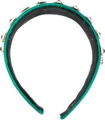 christopher kane crystal embellished headband - green