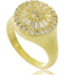 anel redondo com zircônias brancas 3rs semijoias dourado