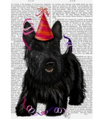 "fab funky scottish terrier and party hat canvas art - 15.5"" x 21"""