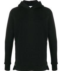 john elliott villain straight-fit hoodie - black