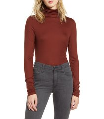 women's ag chels turtleneck top, size medium - red