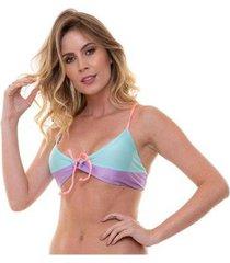 top bejoy amarração recortes candy color feminino - feminino