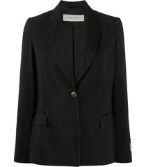 golden goose crystal-button single breasted blazer - black