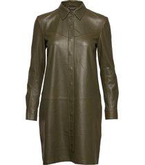 long shirt jurk knielengte groen depeche