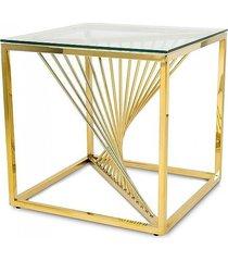 stolik kawowy kwadratowy laura złoty