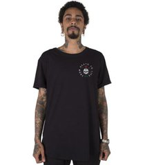 camiseta longline stoned death to life masculina