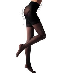calzedonia - 15 denier total shaper sheer tights, s, black, women