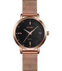 skmei 1528 simple moda lady watch reloj de malla informal
