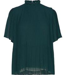 mindy ss 6621 blouses short-sleeved groen samsøe & samsøe