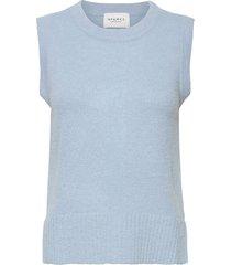 lissie knitted vest vests knitted vests blauw sparkz copenhagen