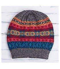 100% alpaca hat, 'multicolored inca' (peru)