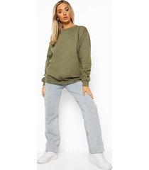basic oversized sweater, khaki