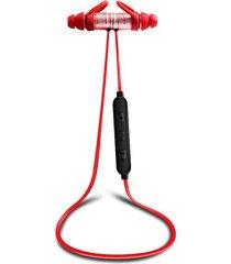 audífonos bluetooth manos, x8 magnetic audifonos bluetooth manos libres  4.1 inalámbrico deportes stereo headpset impermeable cancelación de ruido (oro rosa)