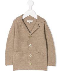 cashmirino knit v-neck jacket - neutrals