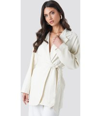 trendyol binding detailed blazer - white