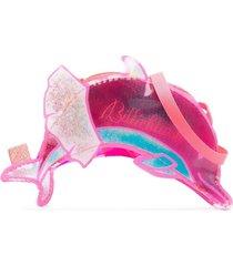 billieblush logo-print dolphin shoulder bag - pink
