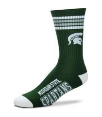 for bare feet michigan state spartans youth 4 stripe deuce crew socks