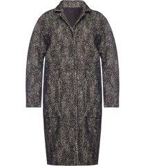 'teya' coat with notch lapels