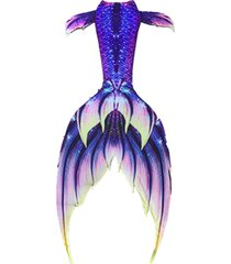 2017 hot mermaid tail with monofin girl women swimsuit colorful cosplay swimwear