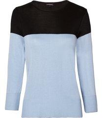 blusa le lis blanc bicolor bianca dusk tricot azul feminina (dusk com preto, gg)