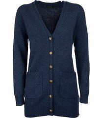 ralph lauren v-neck cardigan in wool and cashmere