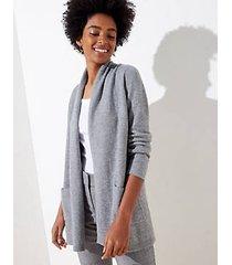 loft petite shawl collar pocket open cardigan