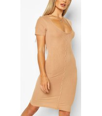 button front ribbed mini dress, camel