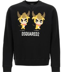 dsquared2 crewneck sweatshirt with year of the ox print