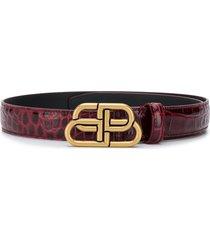 balenciaga bb thin belt - red