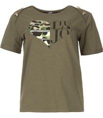 katoenen t-shirt met opdruk tyara  groen