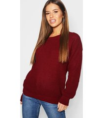 petite oversized sweater, berry
