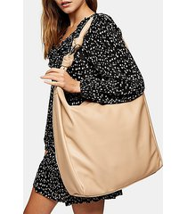 camel oversized knot hobo bag - camel