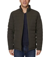 nautica men's big & tall mid-weight stretch reversible puffer jacket