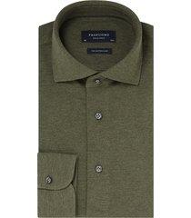 profuomo knitted shirt army melange slim fit groen