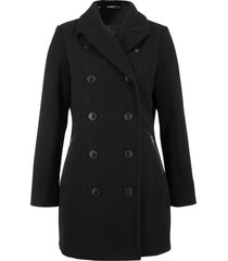 giacca lunga in simil lana stile trench (nero) - bpc bonprix collection