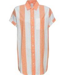 camicia lunga (arancione) - rainbow