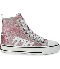 glover high-top glitter sneakers