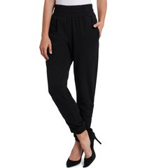 women's 1.state ruched ankle tie pants