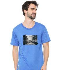 camiseta sandro clothing memory azul - azul - masculino - dafiti
