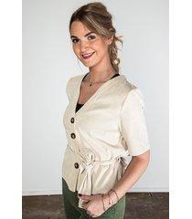 rut & circle blouse beige rut200162